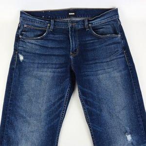 HUDSON 36x34 Byron Straight Leg Jeans Distressed